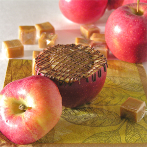 Caramel apple and chocolate recipe.