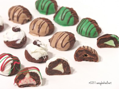 Kids can help bake Chocolate Bonbons