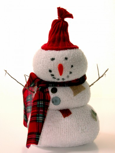 Make a sock snowman craft.