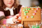 Make a gingerbread house with your family.
