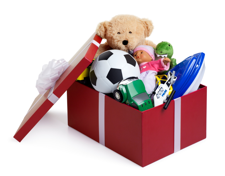 Toys For Christmas : Christmas toy donation party box of toys ganz parent club