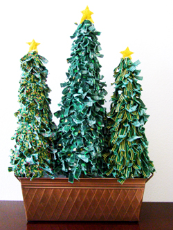 Calico Fabric Christmas Tree Craft | Ganz Parent Club