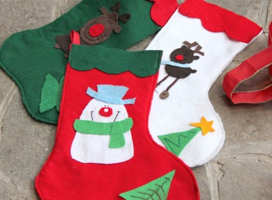 Make your own easy felt stockings