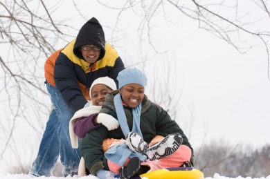 Easy winter play ideas for families.