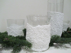 Epsom salt covered glass jars