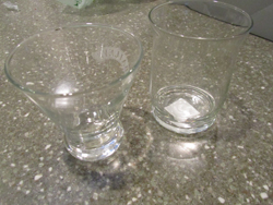 Drinking glasses or jars for craft