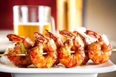 A great summer recipe for grilled shrimp