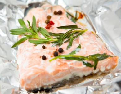Salmon and other recipes over the camp fire