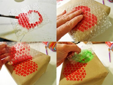 How to make a decorated box with bubble wrap