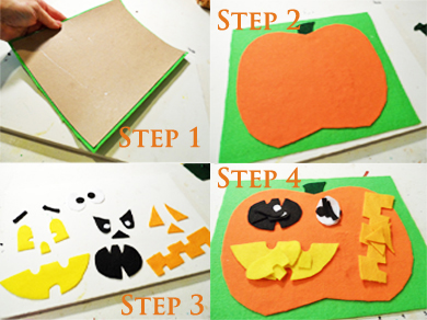 Pumpkin Felt Step 1-4