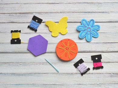 DIY Foam Sewing Craft for Kids